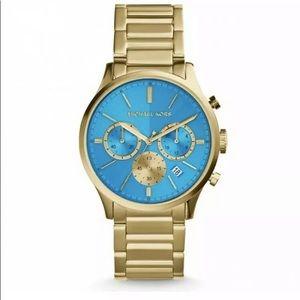 🆕 MICHAEL KORS|Chronograph WatchGold BlueBailey